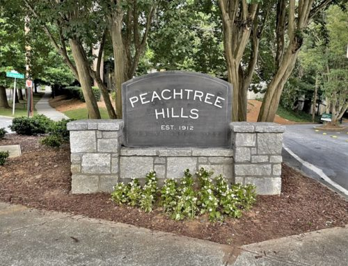 New Entrance Sign at Peachtree & Peachtree Hills Ave.