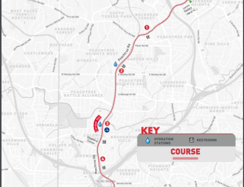 Peachtree Road Race Road Closures July 3rd & 4th