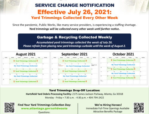 UPDATED Weekly Garbage Collection!